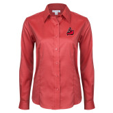 Ladies Red House Red Long Sleeve Shirt-Matador