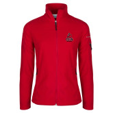 Columbia Ladies Full Zip Red Fleece Jacket-CSUN Matador