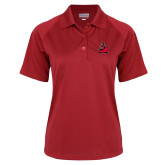 Ladies Red Textured Saddle Shoulder Polo-Matador