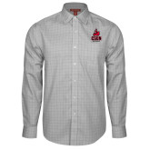 Red House Grey Plaid Long Sleeve Shirt-CSUN Matador