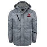 Grey Brushstroke Print Insulated Jacket-CSUN Matador