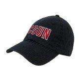 Black Twill Unstructured Low Profile Hat-CSUN