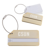 Gold Luggage Tag-CSUN Engraved