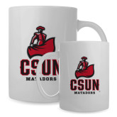 Full Color White Mug 15oz-CSUN Matador