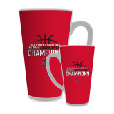Full Color Latte Mug 17oz-2018 Womens Basketball Champions - Stacked w/ Basketball