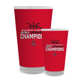 Full Color Glass 17oz-2018 Womens Basketball Champions - Stacked w/ Basketball