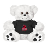 Plush Big Paw 8 1/2 inch White Bear w/Black Shirt-CSUN Matador