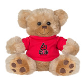 Plush Big Paw 8 1/2 inch Brown Bear w/Red Shirt-CSUN Matador