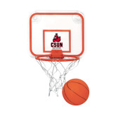 Mini Basketball & Hoop Set-CSUN Matador