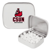 White Rectangular Peppermint Tin-CSUN Matador
