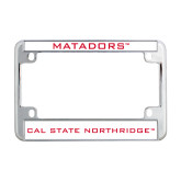Metal Motorcycle License Plate Frame in Chrome-Matadors