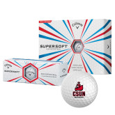 Callaway Supersoft Golf Balls 12/pkg-CSUN Matador