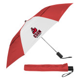 42 Inch Slim Stick Red/White Vented Umbrella-CSUN Matador