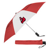 42 Inch Slim Stick Red/White Vented Umbrella-Matador