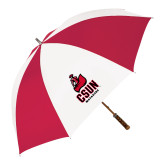 62 Inch Red/White Vented Umbrella-CSUN Matador