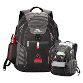 High Sierra Big Wig Black Compu Backpack-CSUN Matador