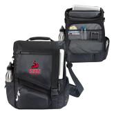 Momentum Black Computer Messenger Bag-CSUN Matador