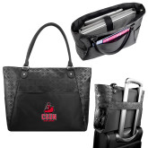 Sophia Checkpoint Friendly Black Compu Tote-CSUN Matador