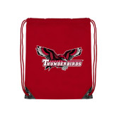 Red Drawstring Backpack-Primary Mark