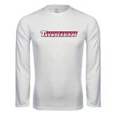 Performance White Longsleeve Shirt-Casper College Thunderbirds
