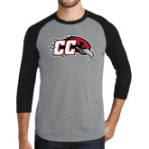 Grey/Black Tri Blend Baseball Raglan-CC with Thunderbird