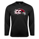 Performance Black Longsleeve Shirt-CC with Thunderbird
