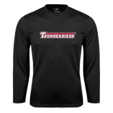 Performance Black Longsleeve Shirt-Casper College Thunderbirds