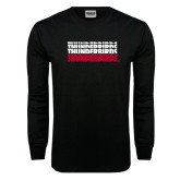 Black Long Sleeve TShirt-Thunderbirds Repeated