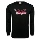 Black Long Sleeve TShirt-Primary Mark Distressed