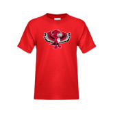 Youth Red T Shirt-Thunderbird Youth Mark