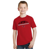 Youth Red T Shirt-Basketball on Top