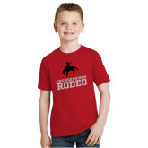 Youth Red T Shirt-Rodeo
