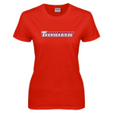 Ladies Red T Shirt-Casper College Thunderbirds