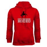 Red Fleece Hoodie-Rodeo