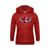 Youth Red Fleece Hoodie-Thunderbird Youth Mark