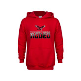 Youth Red Fleece Hoodie-Rodeo