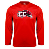 Performance Red Longsleeve Shirt-CC with Thunderbird