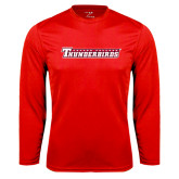 Performance Red Longsleeve Shirt-Casper College Thunderbirds