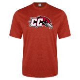 Performance Red Heather Contender Tee-CC with Thunderbird