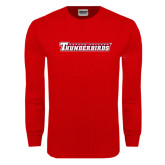 Red Long Sleeve T Shirt-Casper College Thunderbirds