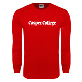 Red Long Sleeve T Shirt-Casper College