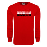Red Long Sleeve T Shirt-Thunderbirds Repeated