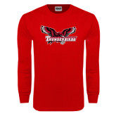 Red Long Sleeve T Shirt-Primary Mark Distressed