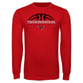 Red Long Sleeve T Shirt-Basketball on Top