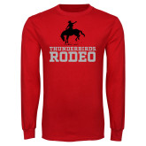 Red Long Sleeve T Shirt-Rodeo