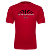Performance Red Tee-Basketball on Top