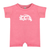 Bubble Gum Pink Infant Romper-CC with Thunderbird