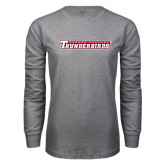 Grey Long Sleeve T Shirt-Casper College Thunderbirds