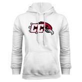 White Fleece Hoodie-CC with Thunderbird