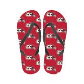 Ladies Full Color Flip Flops-CC with Thunderbird